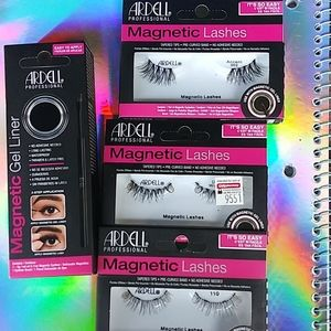 Magnetic lashes and magnetic gel liner